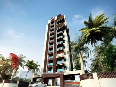 architectural-walkthrough-3d-Architectural-animation-services-high-rise-building-warms-eye-view-raipur