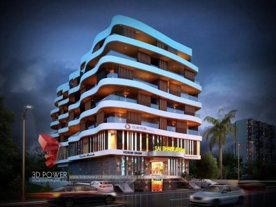 3d- model-architecture-3d-rendering-service-3d-walkthrough-company-solapur-night-view-commercial-complex