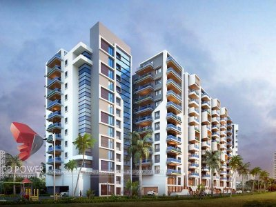front-view-apartment-Thiruvananthpuram- day-view-3d-architectural-animation-architectural-rendering-company