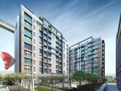 3d-high-rise-apartment-day-view-Udupi-architectural-services