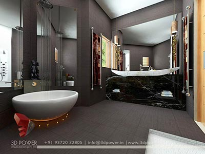 master bedroom bathroom interior rendering 3d
