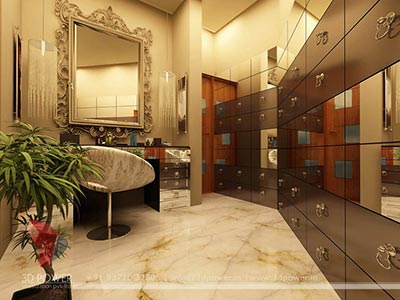 modern bathroom 3d interior design