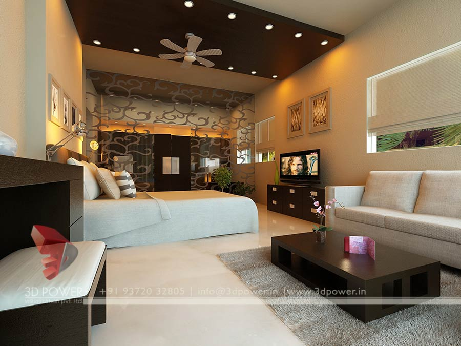 3d interior design rendering services bungalow home for Latest interior of bedroom