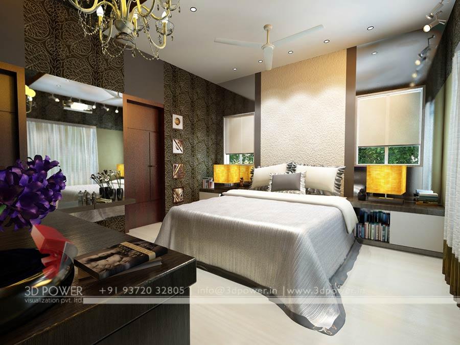 Design Villa Bedroom 3d Interior Rendering