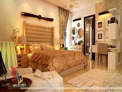 bedroom 3d interior design view