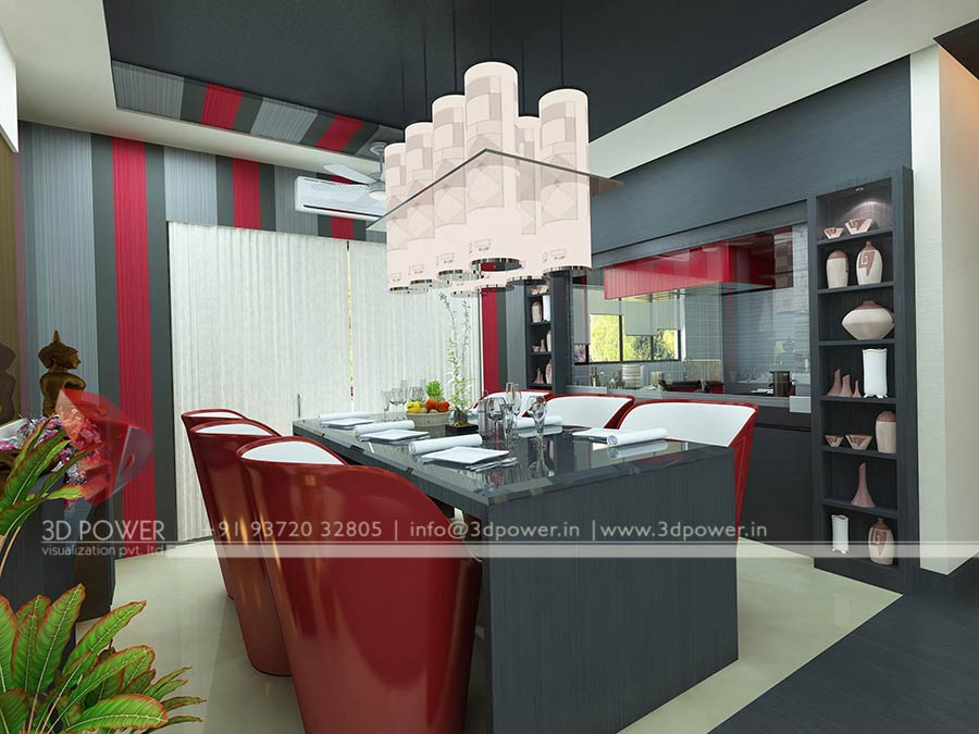 dining room 3d interior design. 3D Interior Design   Rendering Services   Bungalow   Home Interior