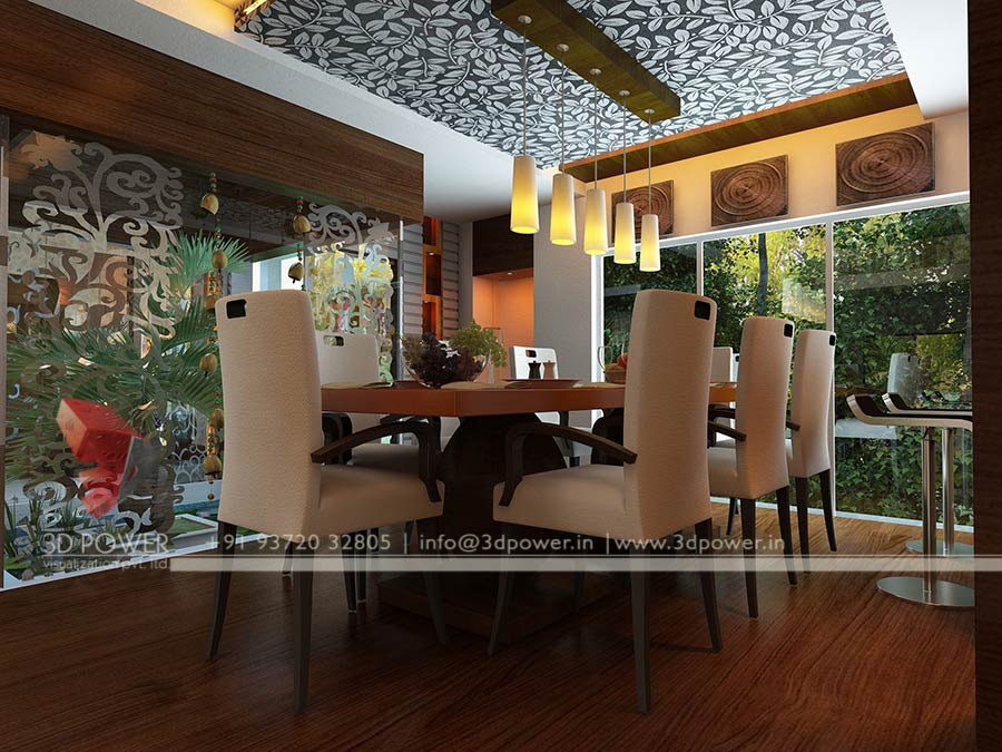 design dining room 3d interior. 3D Interior Design   Rendering Services   Bungalow   Home Interior
