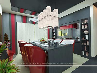 dining room 3d interior design