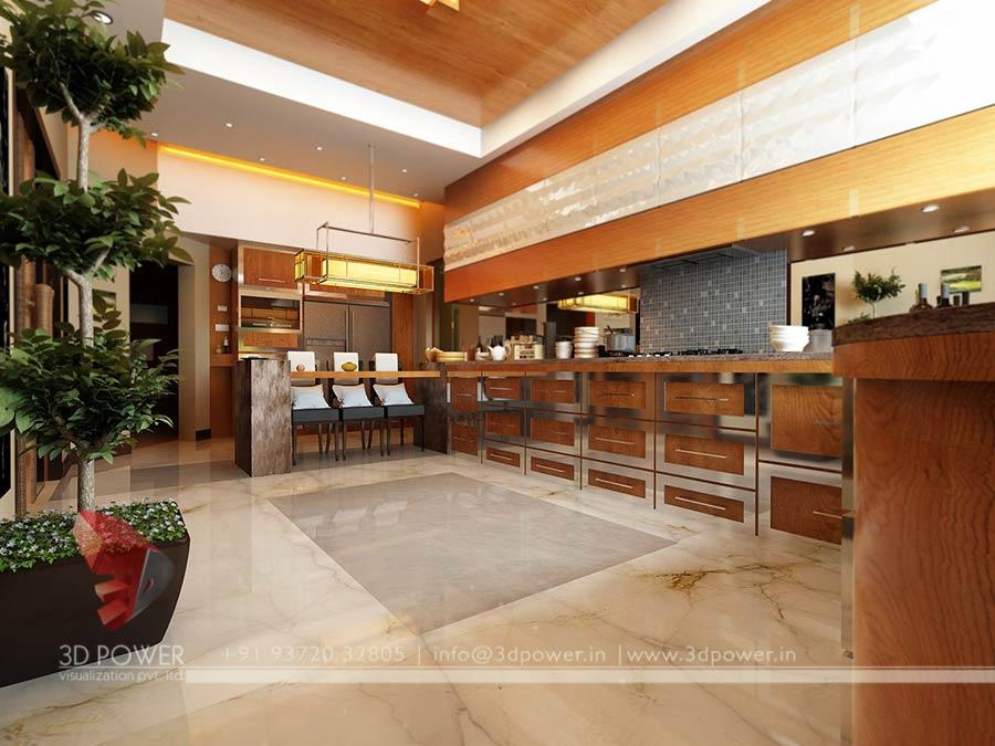 Kitchen Interior Design Bungalow Kitchen 3d Interior Design