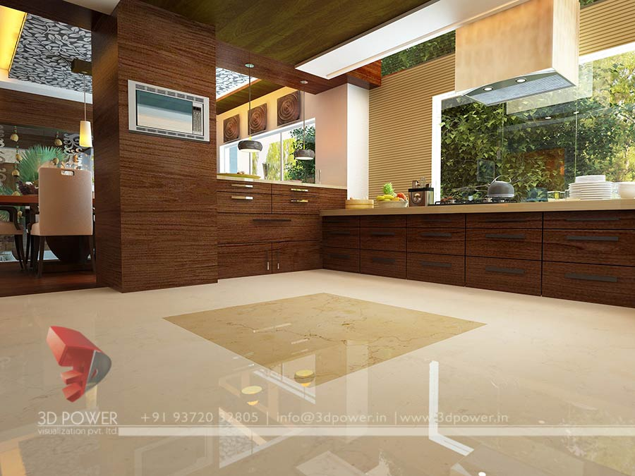 house modern kitchen interior 3d interior design - 3d Design For House