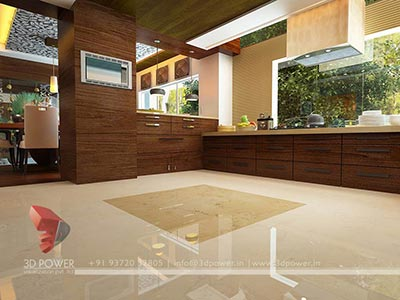 house modern kitchen interior 3d interior design
