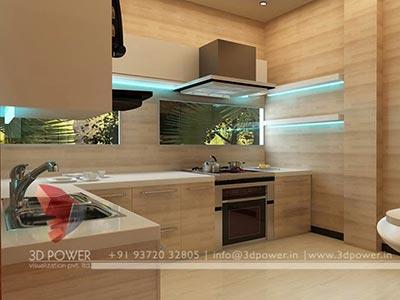 3d Interior Design Rendering Services Bungalow Home Interior - Kitchen-interior-designing
