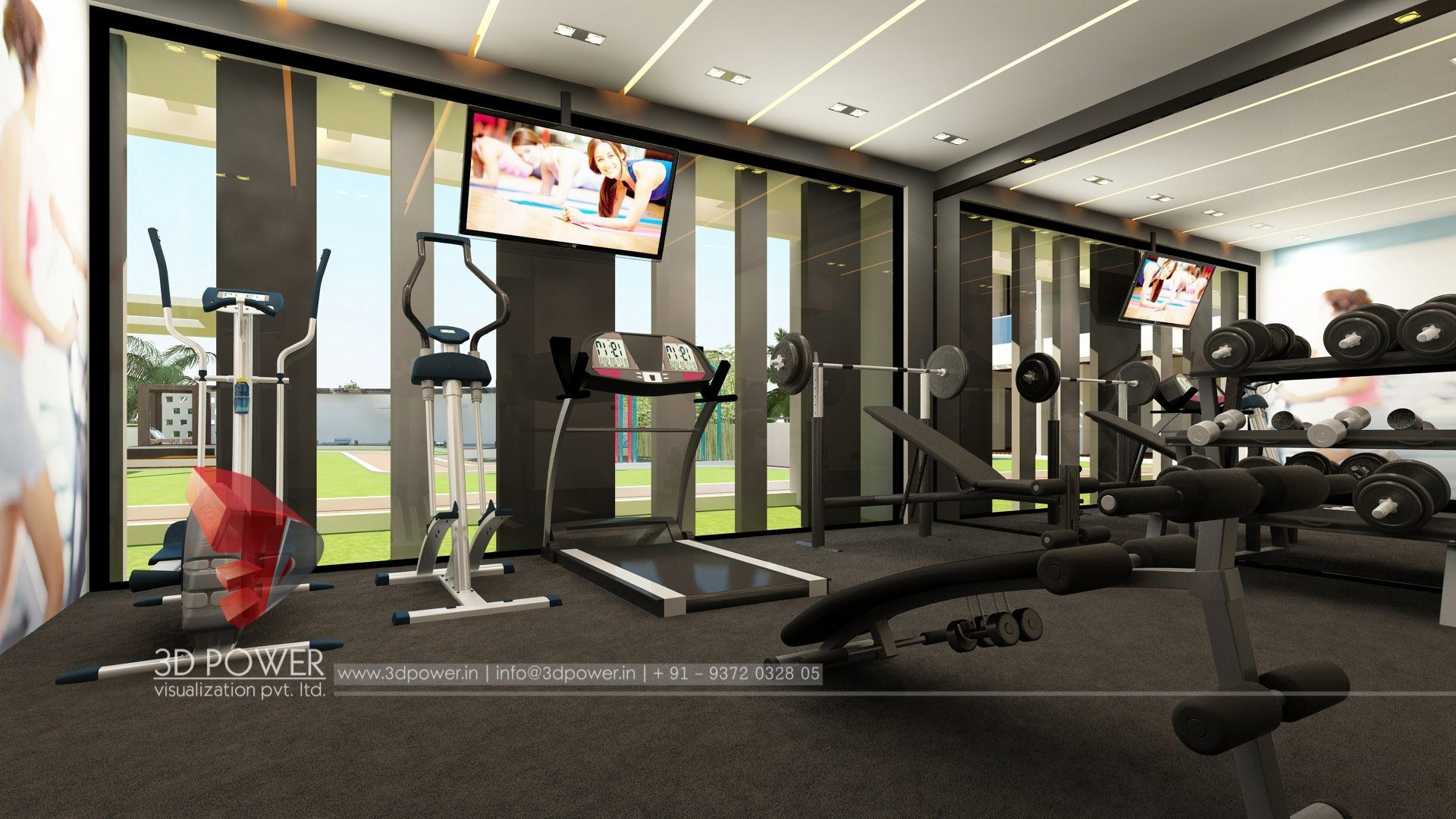 home gym interior design 3d interior design amp rendering services bungalow amp home 18189