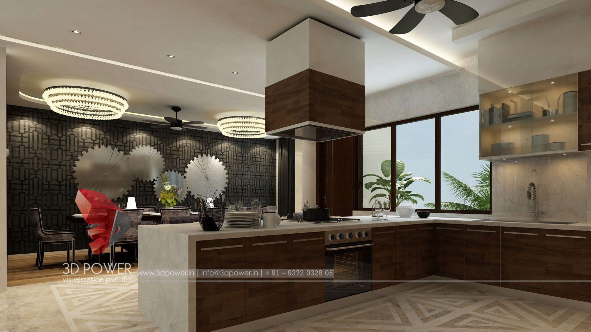 Merveilleux ... 3d Interior Design Rendering Services Kitchen Interior Design ...