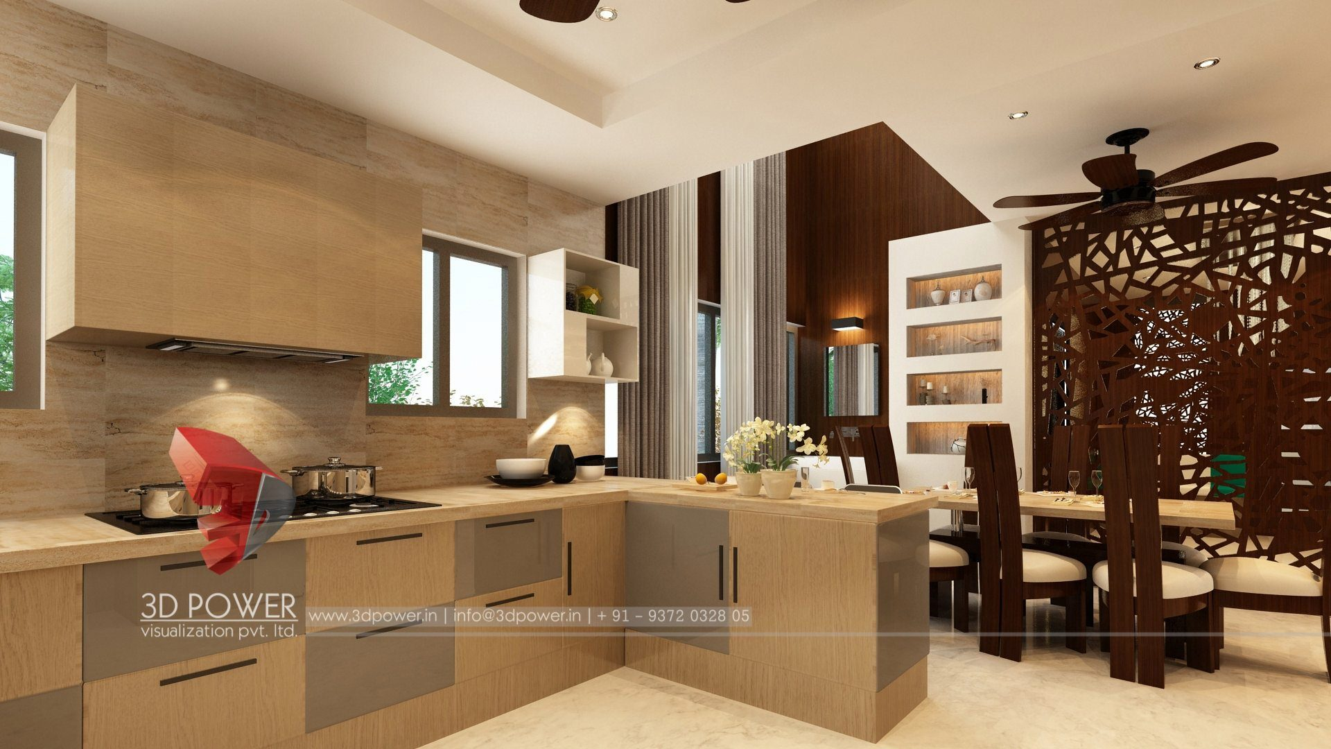 3d interior design rendering services bungalow home for Virtual interior home design