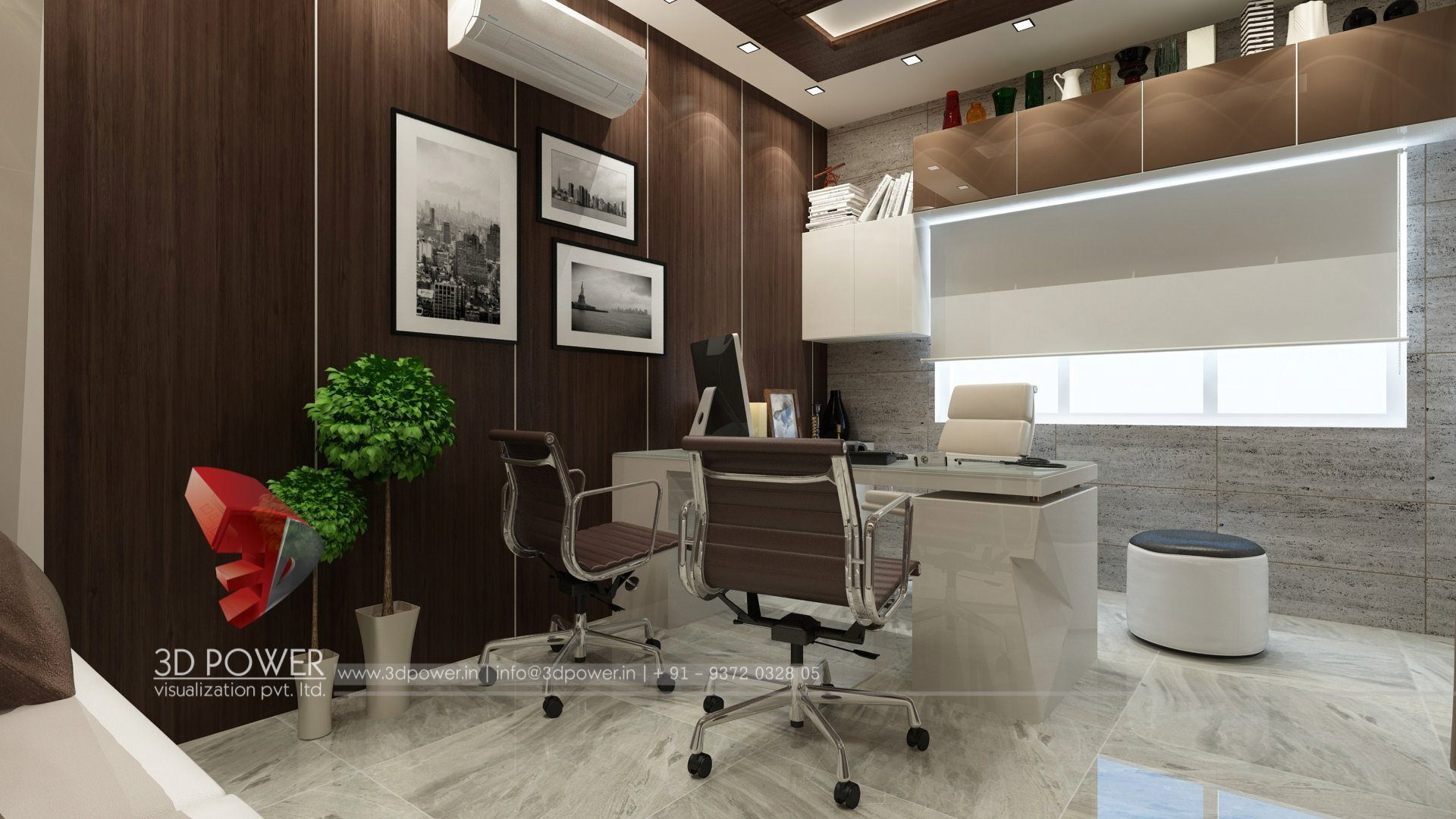 3d interior design rendering services bungalow home for Interior design of office