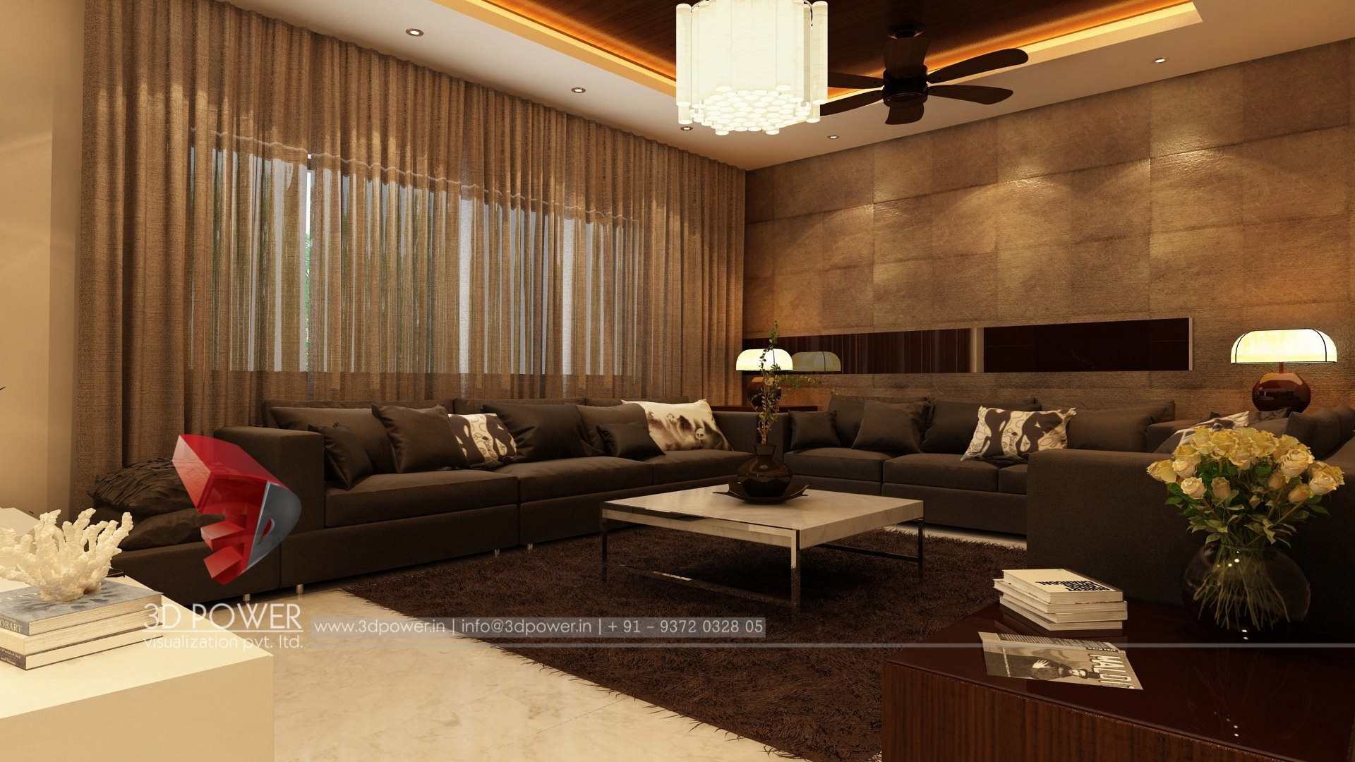 3d interior design rendering services bungalow home - Interior design for living room and bedroom ...