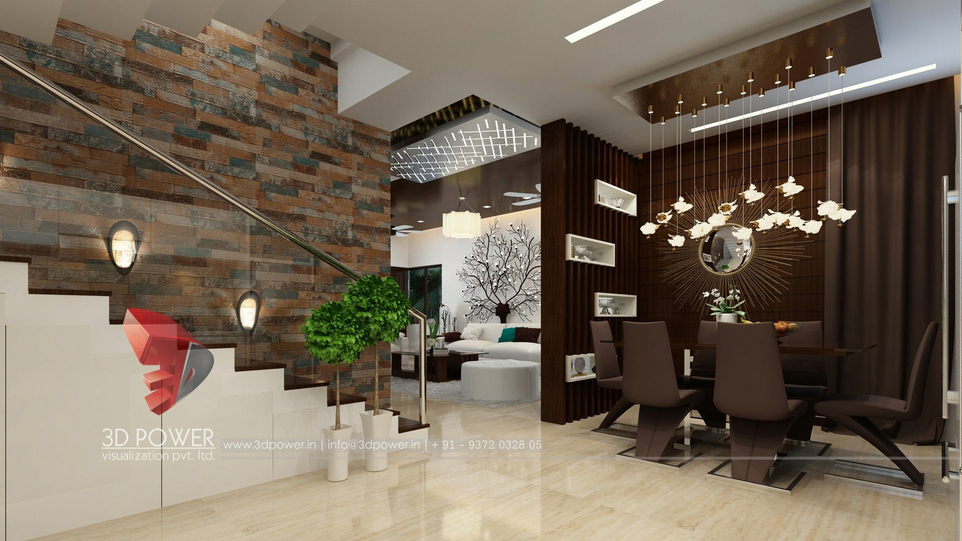 3d interior design rendering services bungalow home - Interior living room design ideas ...