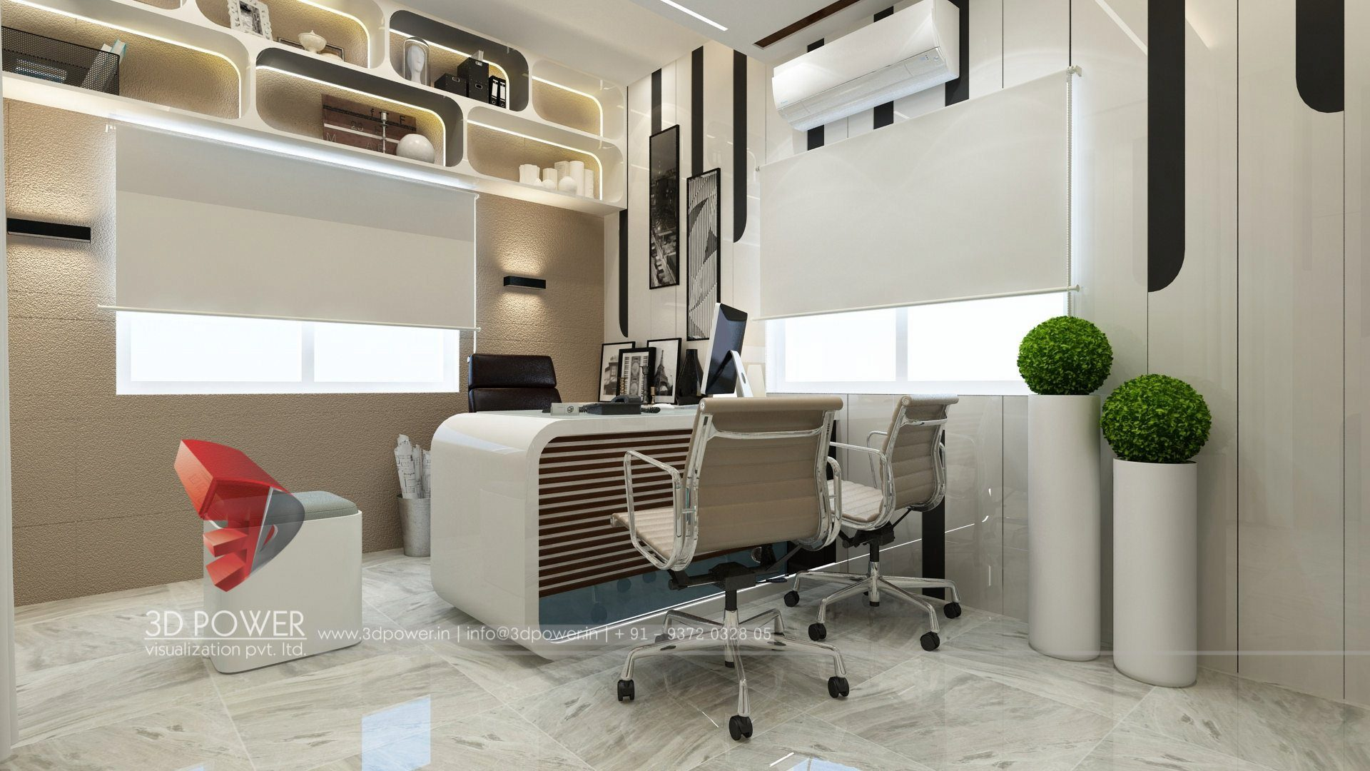 Rendering services office interior design