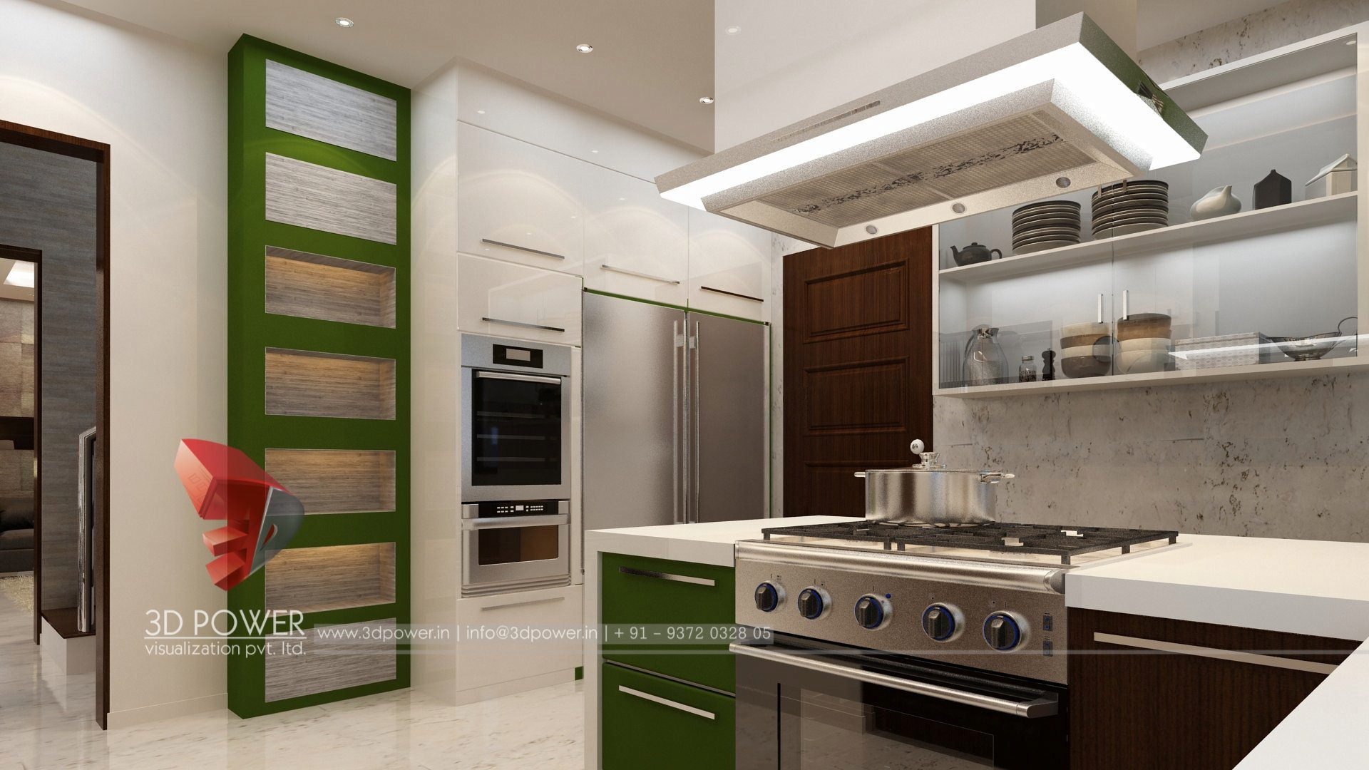 Attractive ... Walkthrough Rendering Services Kitchen Interior Design ...