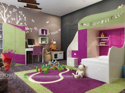 ... 3d Walkthrough Interior Design Children Room ...