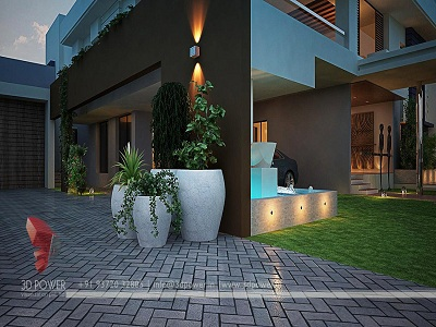 Villa design rendering