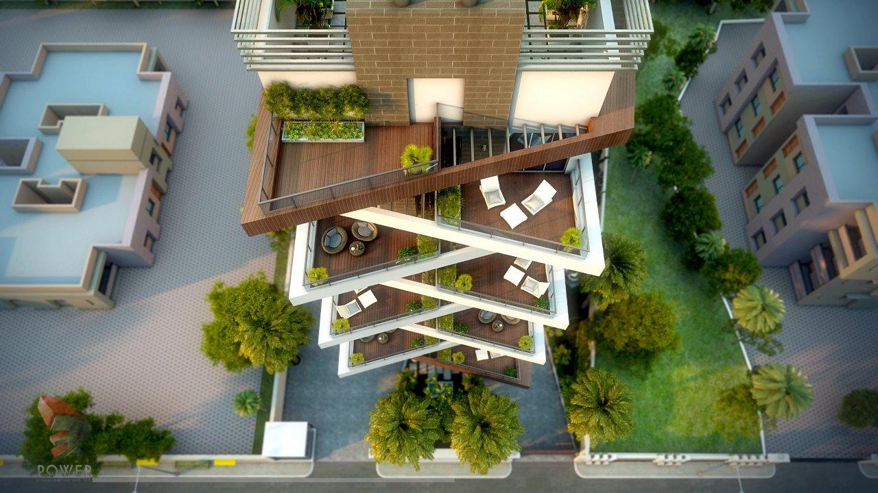 Apartment Elevation Designing   3D Architectural Rendering ...