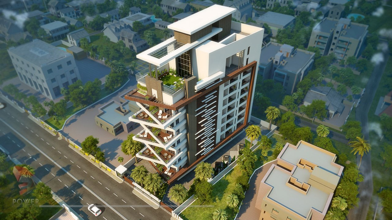 Apartment Elevation Designing | 3D Architectural Rendering ...