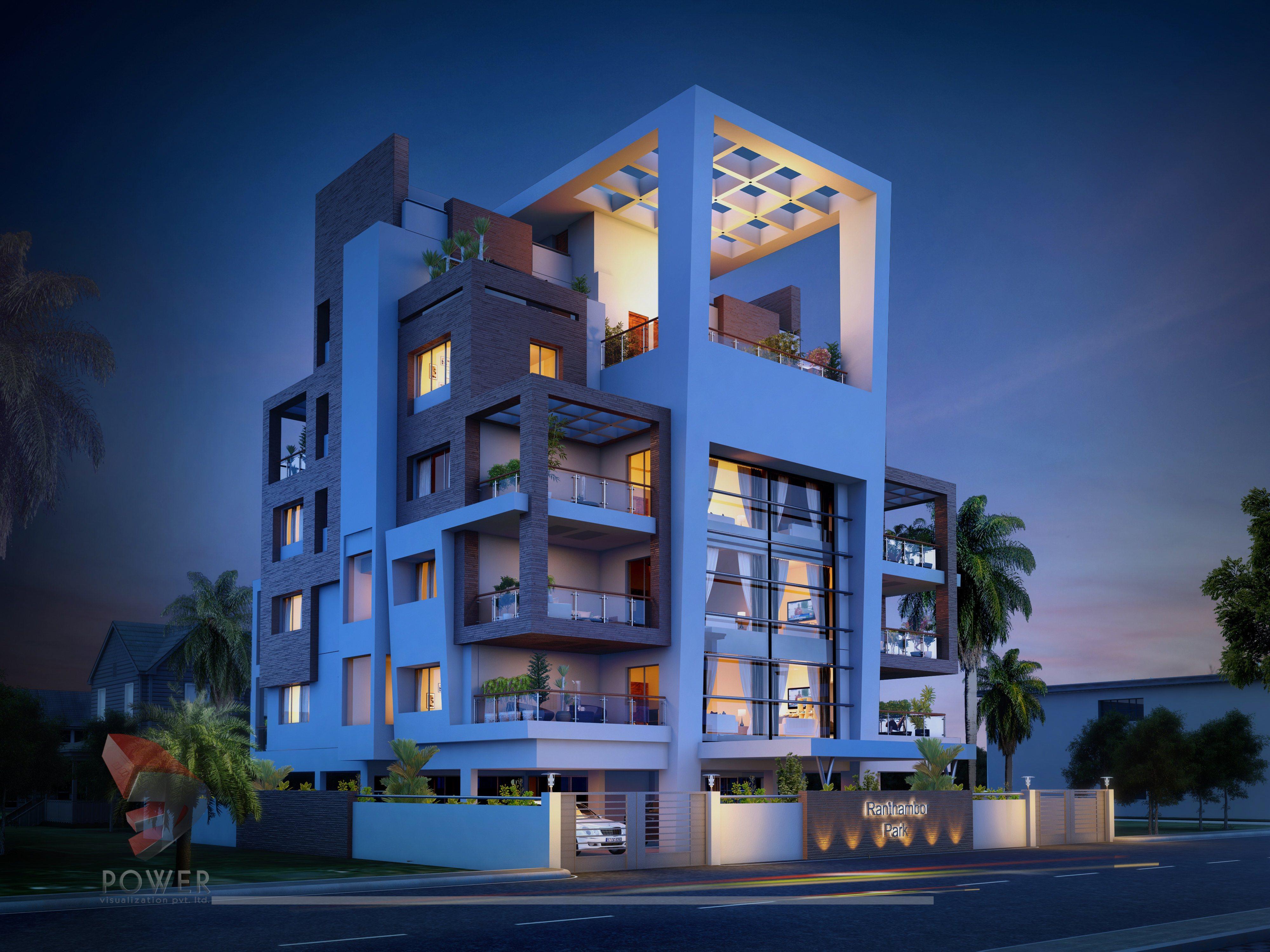 Apartment Elevation Designing | 3D Architectural Rendering ...