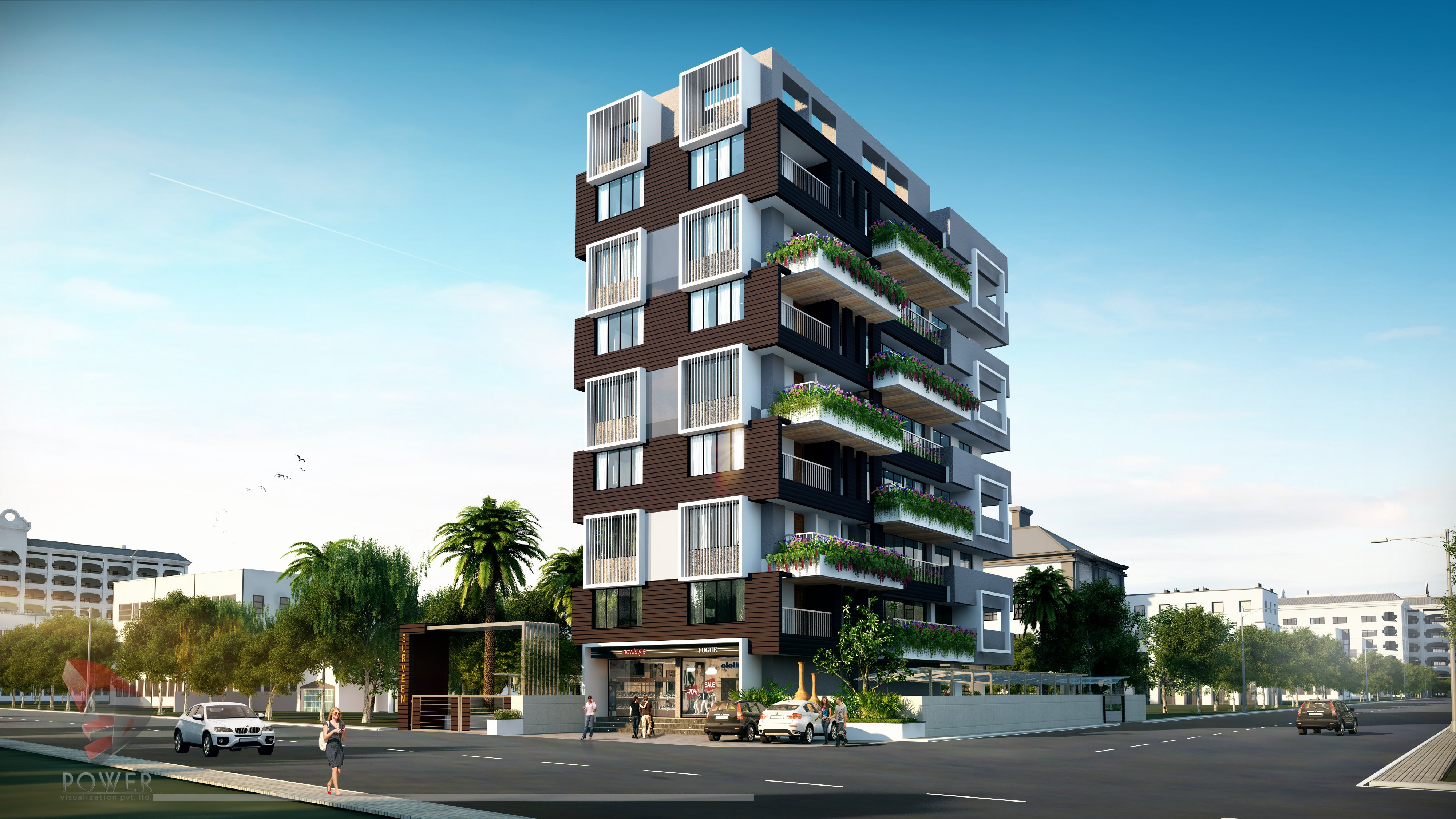 elevation apartment 3d architecture apartments residential power designing 3dpower architectural invest rendering