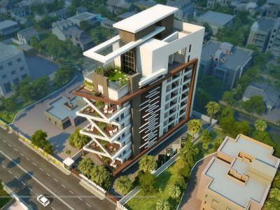 Modren Apartment Building Elevation Designs Throughout Design