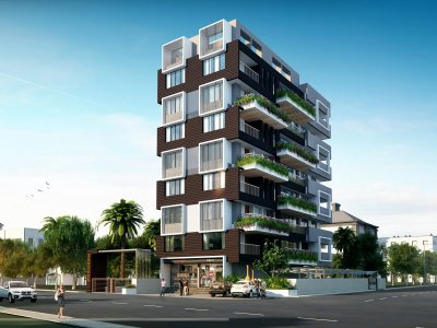 Apartment Architecture Design Green Architecture Green And
