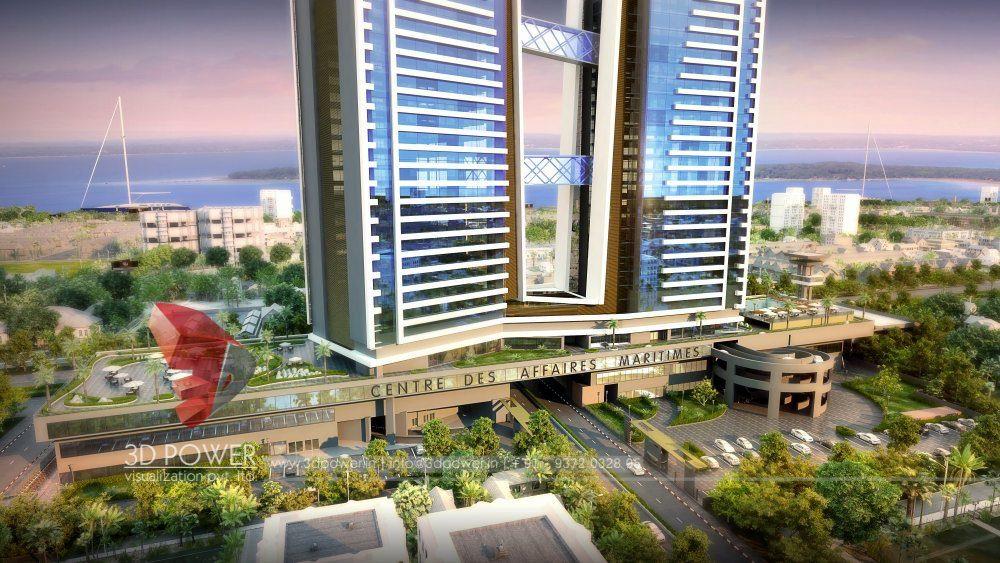 Apartment Design Rendering 3d Contemporary Modern