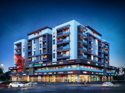 3d-architectural-rendering-apartment-night-view