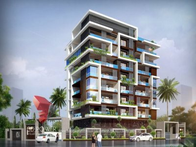 architectural-rendering-apartment-evening-view
