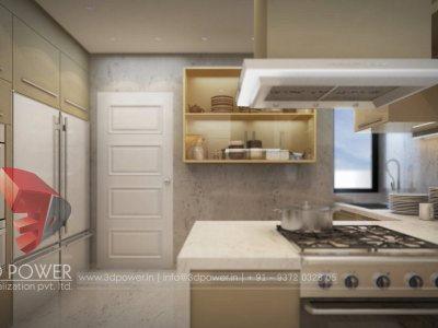 dinning room interior 3d