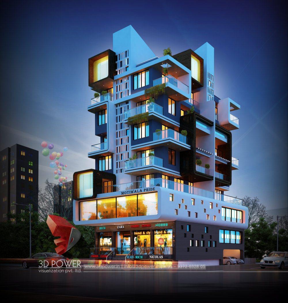 Architectural Apartment Rendering: Apartment Design Rendering