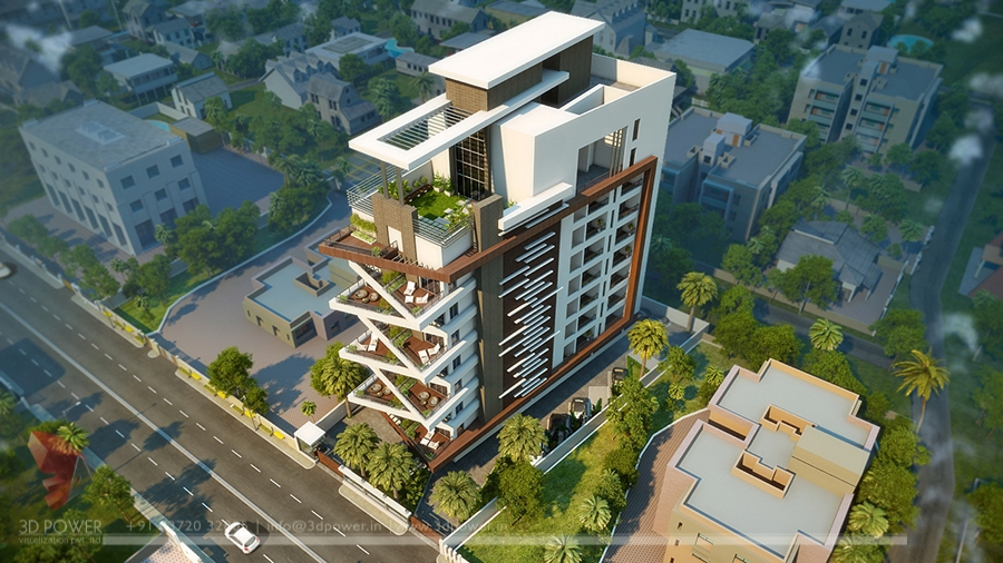 Apartment Design Rendering Contemporary Modern Apartment