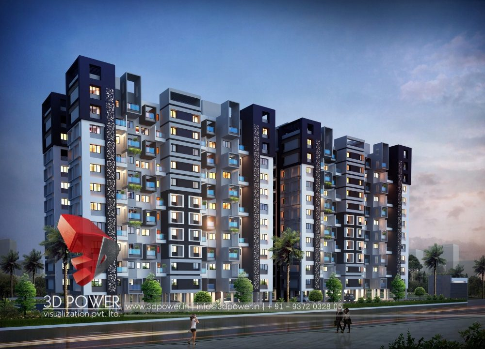 Apartment Design Rendering | 3D Contemporary Modern Apartment Design ...