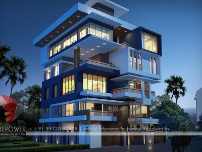bungalow night view rendering top best quality visualization company india we provide services like 3d view elevation designs walkthrough interior views exterior views