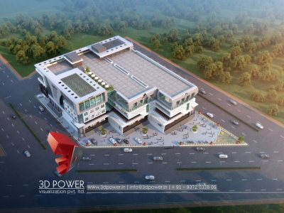 rendering services architectural visualization birds eye view of shopping mall birds eye view with photorealistic effects 3d views by 3dpower