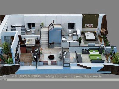 Bunglow Design- 3D Architectural Rendering Services - 3D ...