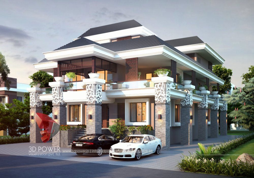 Bunglow Design- 3D Architectural Rendering Services - 3D ... on beautiful small garden design, beautiful indian fashion, beautiful indian food, indian style house design, most beautiful home exterior design, beautiful old architecture buildings, beautiful family room interior design, indian home design, indian house elevation design, beautiful indian art,