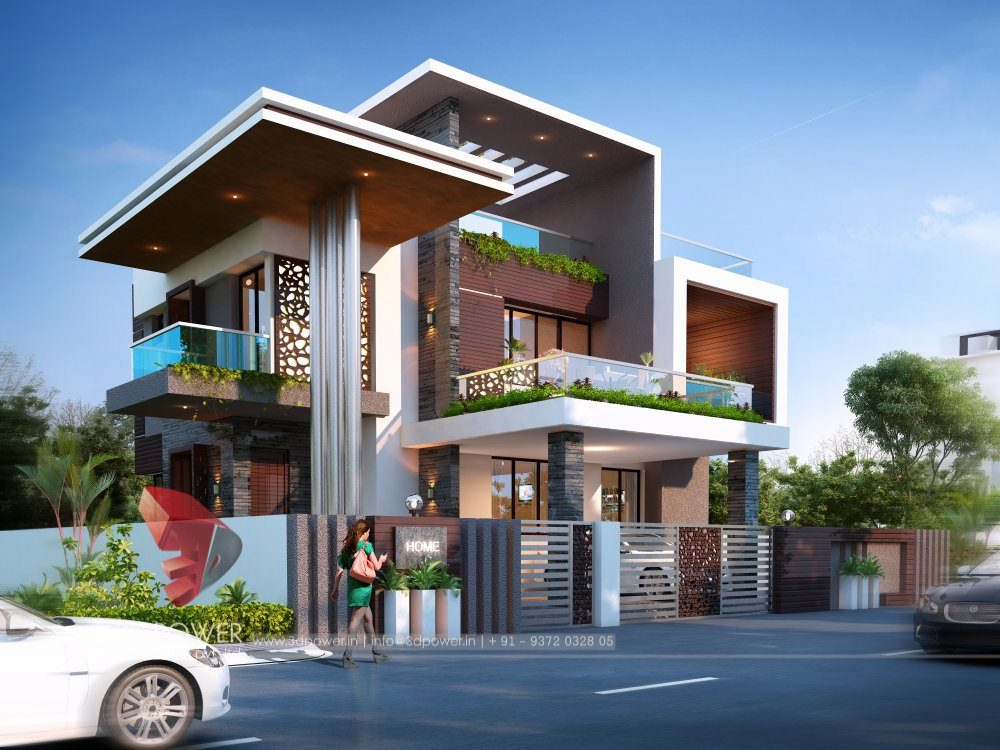 Best Architectural Visualization Services Best Trusted Quality Bungalow  Designing Service Provider India Top Quality Home 3d