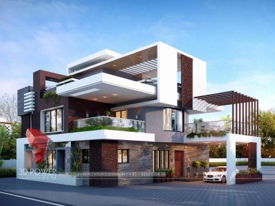 3d exterior rendering bungalow evening view bungalow front views new trends in designs new 2018 designs new concept 3d indian bunaglow photo