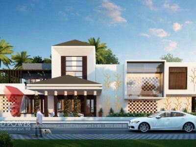 architectural rendering bungalow evening view bungalow front designs home front view best designs top designs indian bunaglow photo