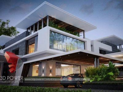 best architectural visualization services bungalow villa kothi home house 3d designs 3d elvations front elevation class elite work