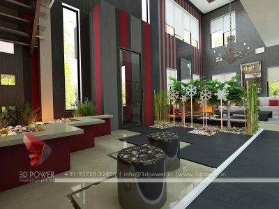 3D Interior Visualization Designing rendering living hall interior 3d high class bungalow photos interior rendering service provider
