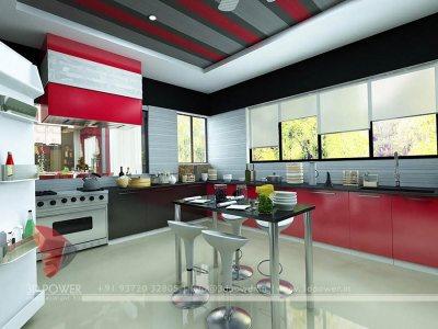 Interior Rendering Kitchen new concept deigns visualization services architeture services architect 3d services