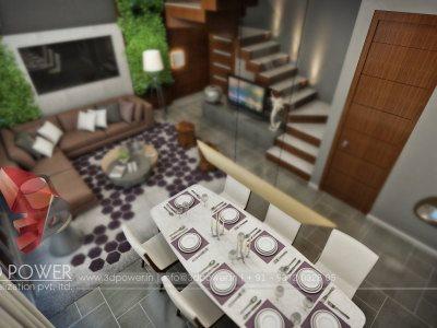 dinning living hall interior 3d views designs elevations 3d services provider in india pune mumbai banglore chennai trichi uae uk africa